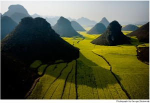 The Pyramidal Hills of Luoping, China